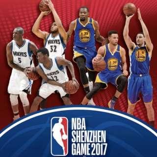 NBA 2017 深圳站 2200飛位 兩張