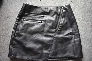 Womens Leather Skirt Size 4-8 Brand New European