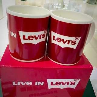 levis 限量經典logo馬克對杯