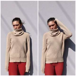OROTON beige turtle neck jumper