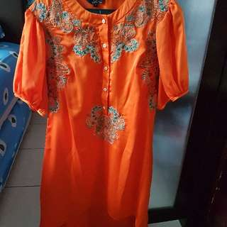 ps orange tunik size 12 (s-m)