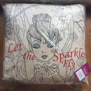 """Disney Tinkerbell Pillow ~ """"Let The Sparkles Fly"""""""