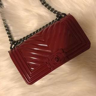 Chanel Inspired Jelly Boy Bag