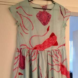 Gorman Giant Squid Beach Dress Sz M