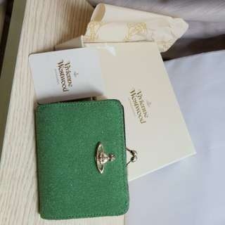 Vivienne Westwood dirty green colour short wallet