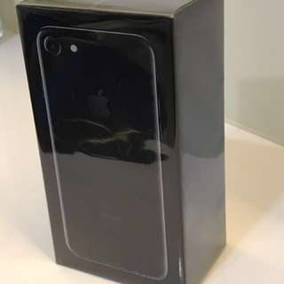 New Iphone 7 Jet Black 128GB In Box Unopened For Sale