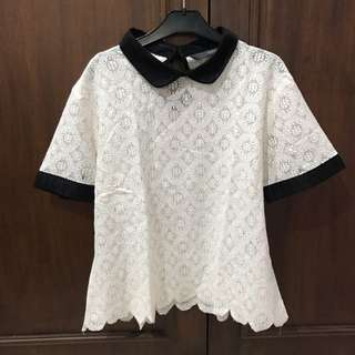 Invio Lace Collar Shirt