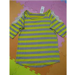 YELLOW-GRAY STRIPES LONG SLEEVE