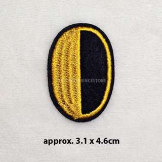 BN Single Colour DIY Fabric Embroidery Iron On / Sew on Applique Number 0 to 9 Patch Badge - Zero 0