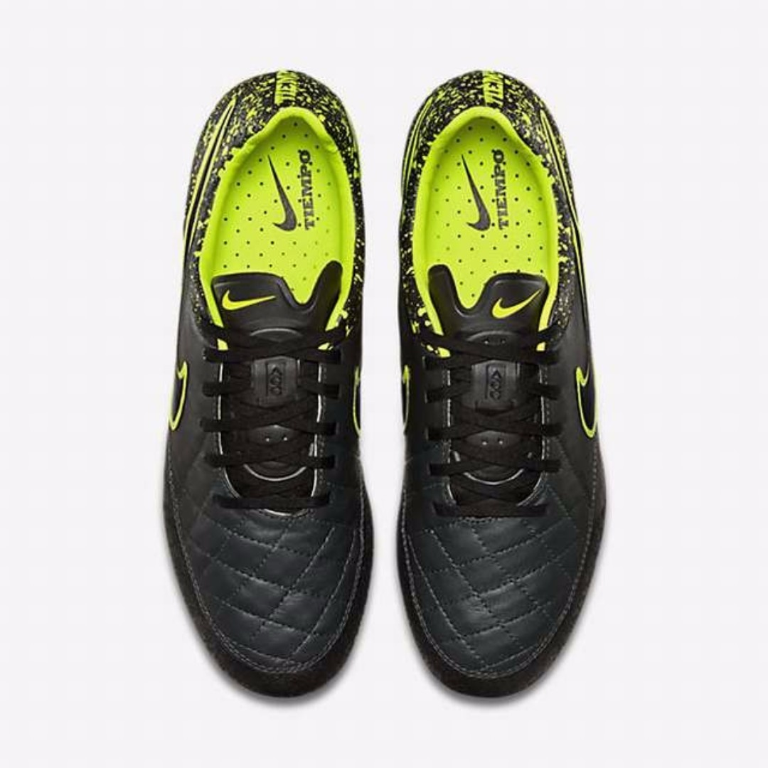 online store 2fad0 dec5c 2016 Nike Tiempo Legend V Ag-r ACC Soccer Cleats Black Volt Mens Shoes,  Sports, Sports Apparel on Carousell