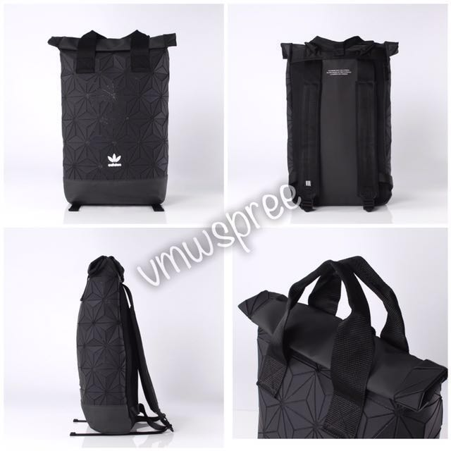 2017 Latest) Adidas issey miyake roll backpack black   white, Men s ... acb40fa01d