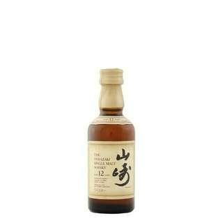 $100 大量現貨 日本威士忌 山崎12年 50ml