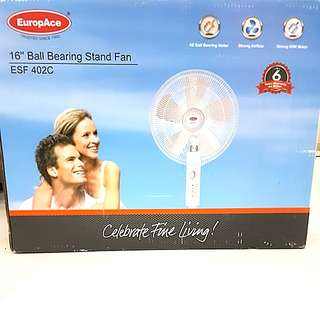 """Reduced Price!!! EuropAce 16"""" Ball Bearing Stand Fan ESF402C"""