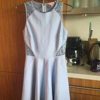 Ted Baker Blue Lace Cut Out Dress (TB SIze 1 or US Size 4)