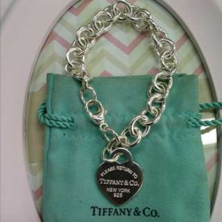 Tiffany & Co. Return toTiffany chain bracelet with double-sided pendant