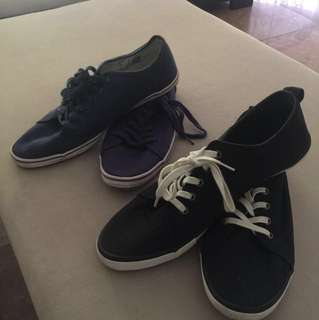 Shoes bundle sale!(US8) (Navy Blue topman &Black H&M)
