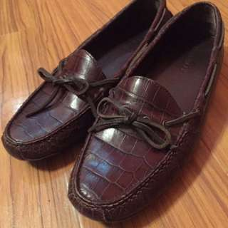 Cole Haan Croc Skin Loafers Driving Shoes