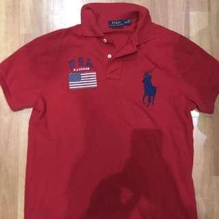 Polo Ralph Lauren Red USA Custom Fit