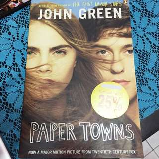 Paper towns by john green!