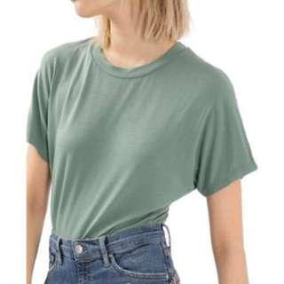 Topshop teal bodysuit tshirt