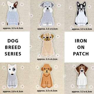 BN Dog Breed Series DIY Fabric Embroidery Iron On / Sew on Applique Patch Badge