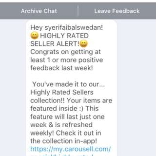 HIGHLY RATED SELLER!TQ CAROUSELL
