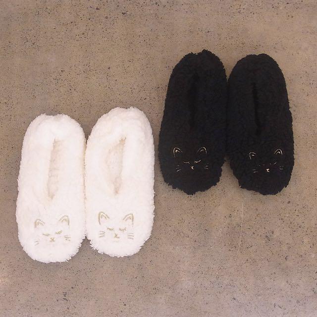 日本連線🐜🐜🐜貓咪毛絨絨室內拖鞋