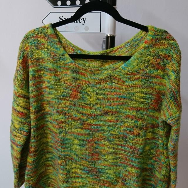 絢染針織毛衣