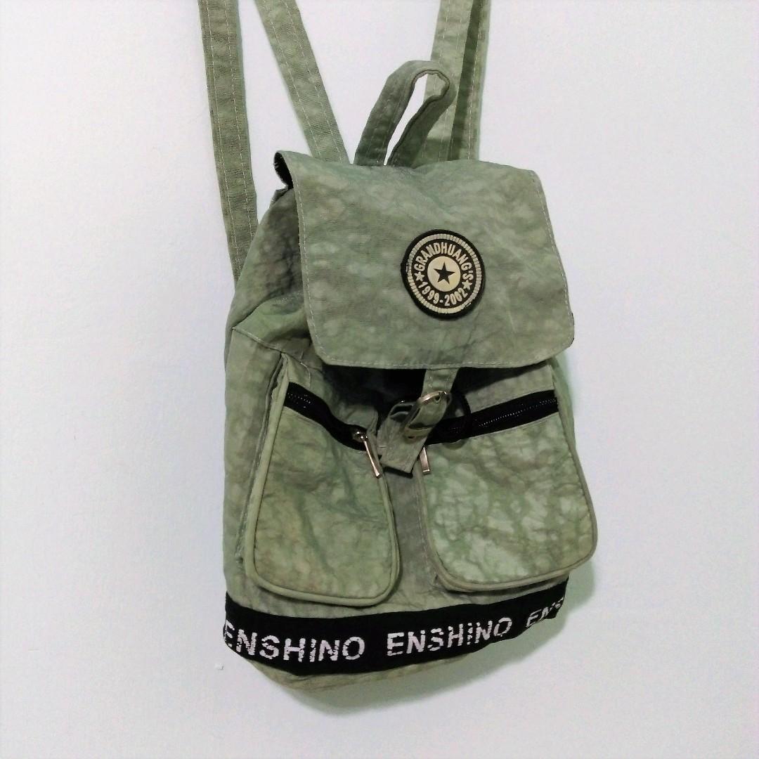 🈹搬家出清特價🈹藍綠色水紋 輕量後背小包