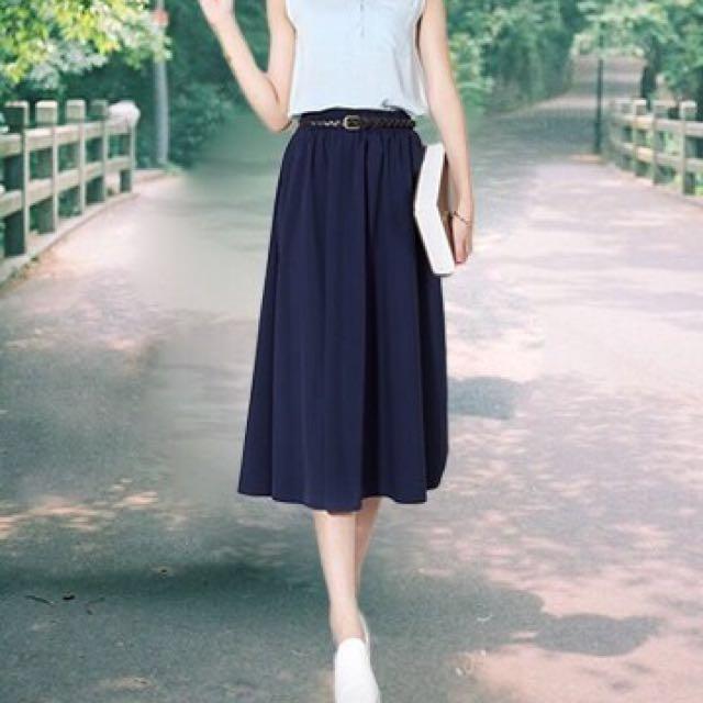 闊腿裙 A字裙 高腰裙 涼感長裙
