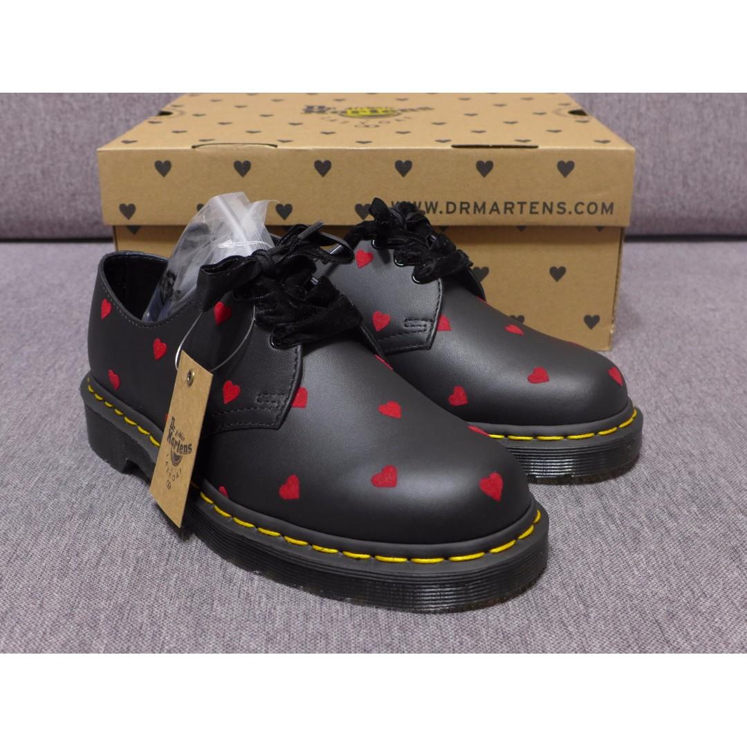【現貨】聯名款 Lazy Oaf x Dr Martens 1461 馬汀 黑色 紅心 皮鞋 限量