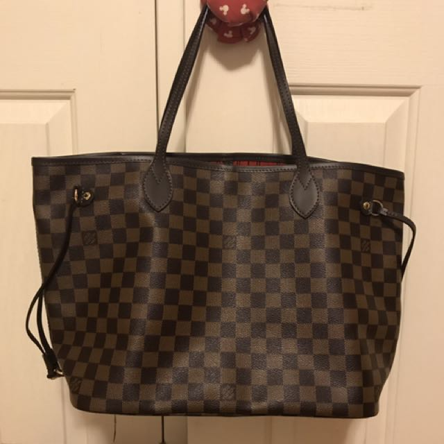 AAA quality Louis Vuitton Neverfull Damier ebene MM