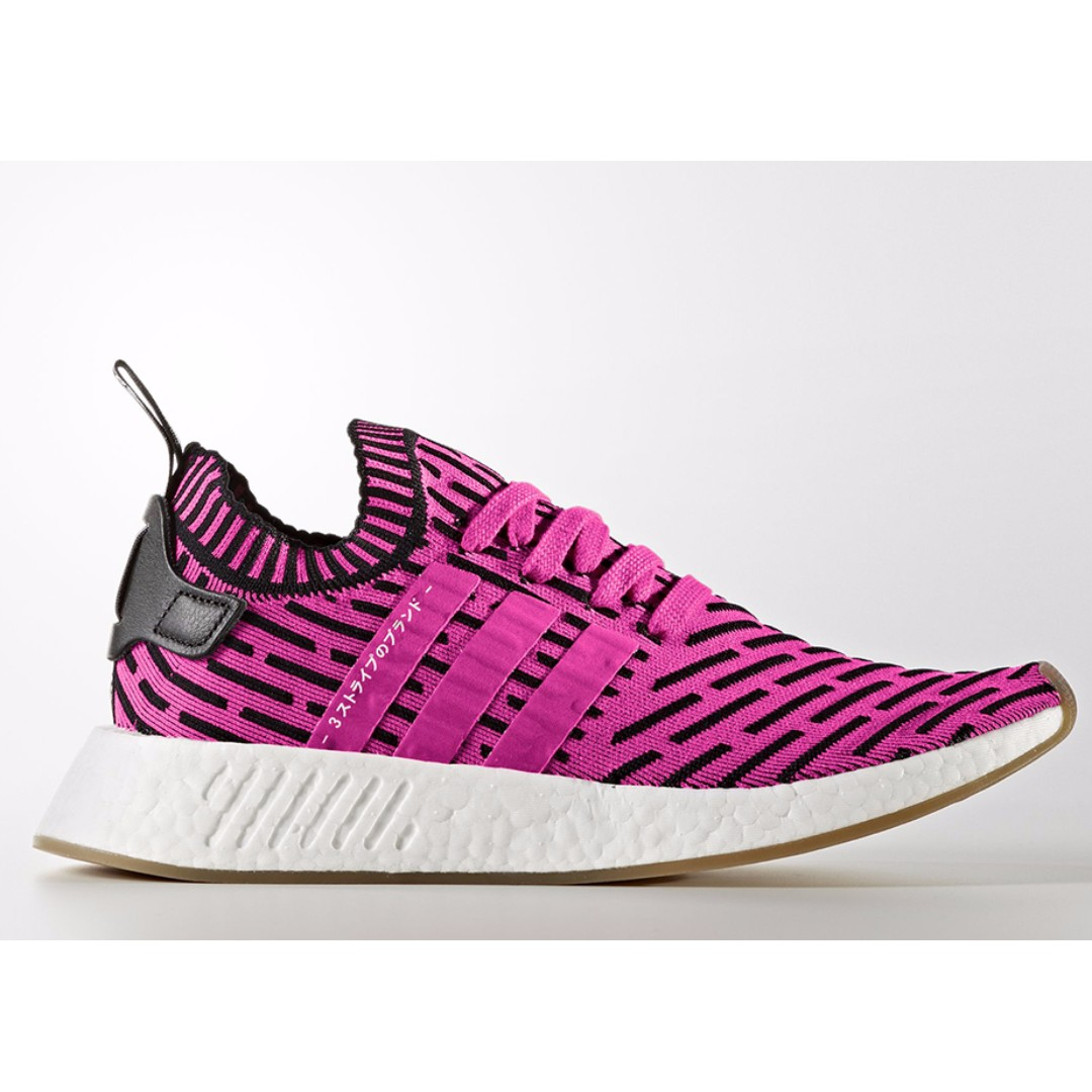 """6bbd28ba6a3a3 Authentic ADIDAS NMD R2 Womens Primeknit """"JAPAN PACK"""" Pink   White ..."""