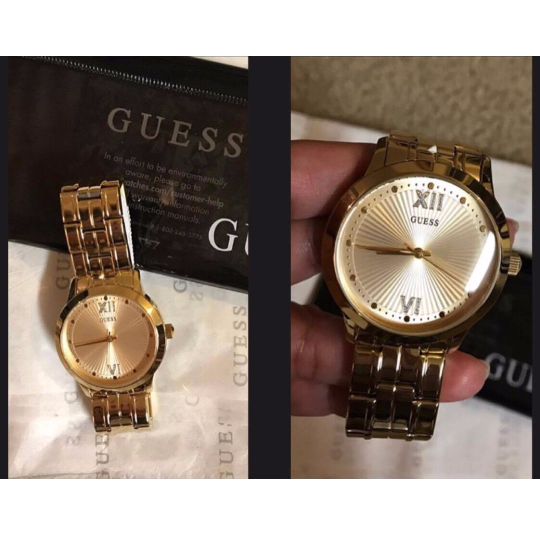 💯Authentic Guess women's gold watch