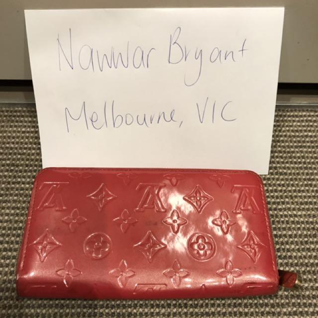 Authentic Louis Vuitton Patent Leather Wallet