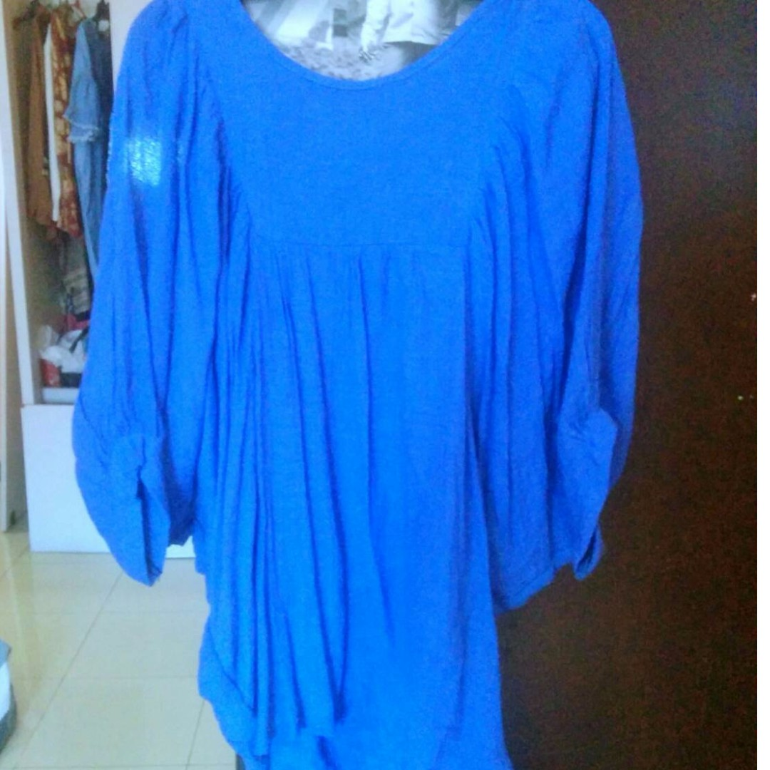 Baju Blouse Kalong Biru