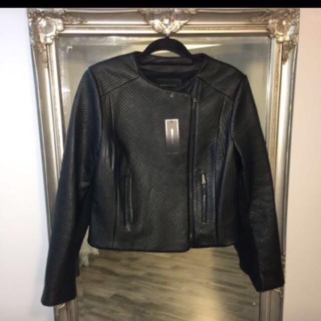 BCBG textured leather like jacket (retail $500+)