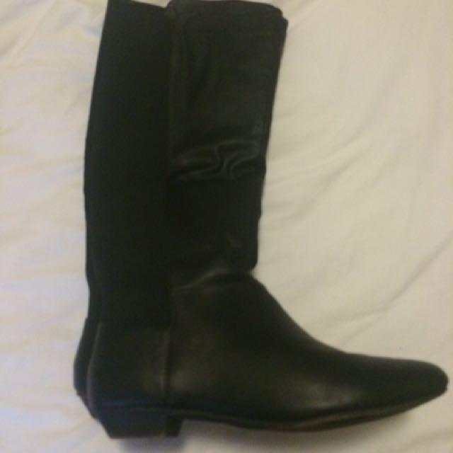 Black Faux Leather ASOS boots