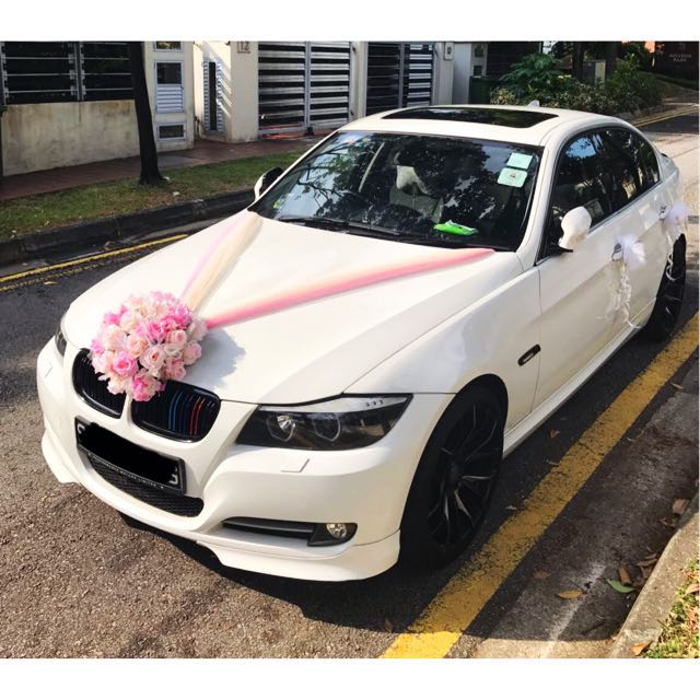 White wedding car decoration image collections wedding decoration bmw white wedding car rental and decor design craft others on junglespirit Gallery