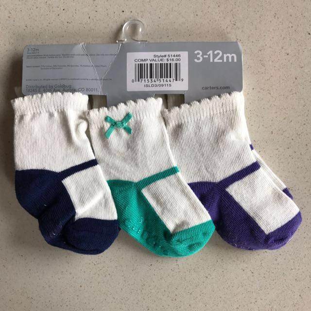 12M Mary Jane Socks for Baby Girl