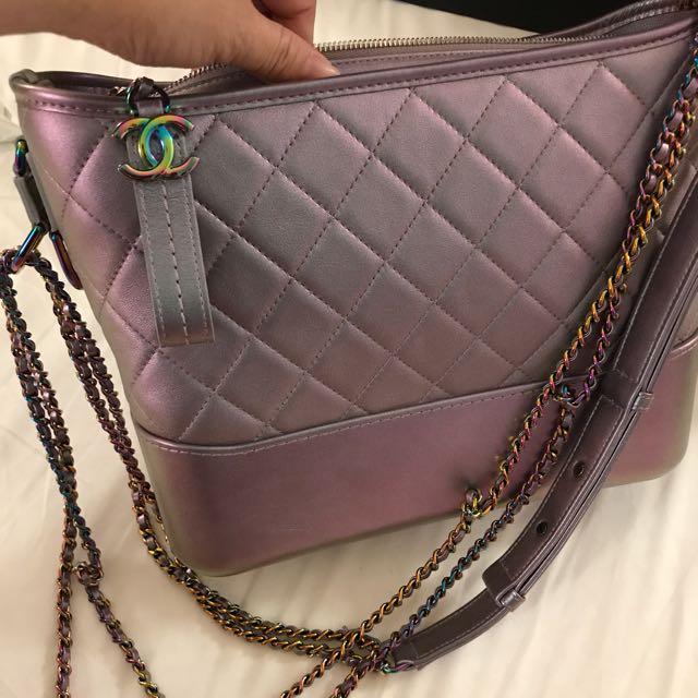 b5377cf8bb77 Chanel s Gabrielle Hobo Bag In Iridescent Metal Purple