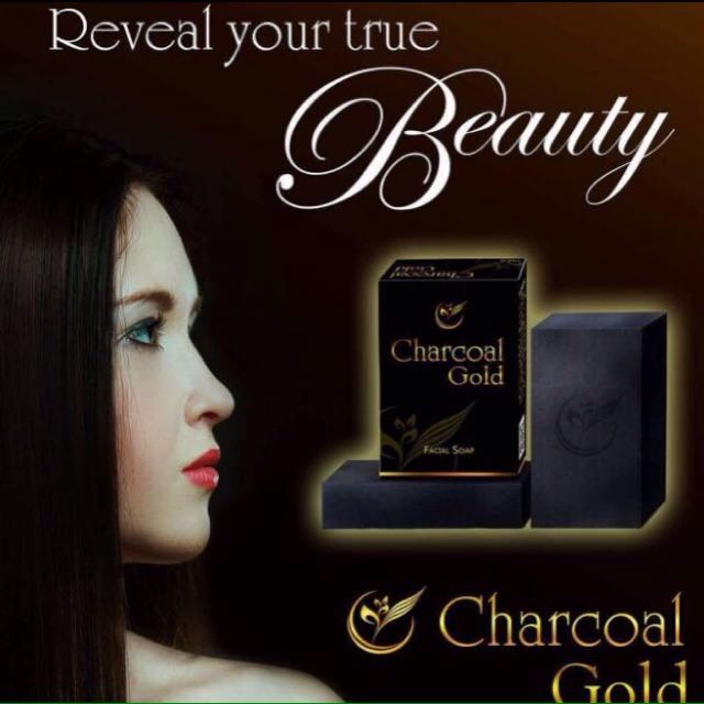 Charcoal gold soap and serum