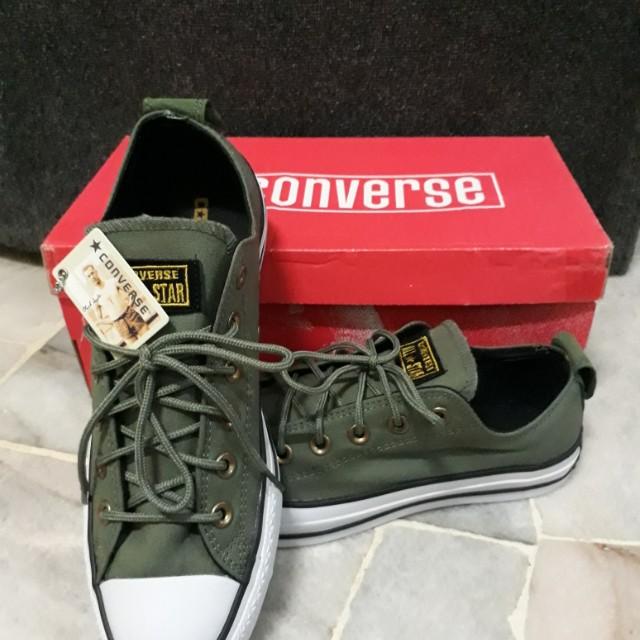 5776835614e0 Converse Back Button - Army Green