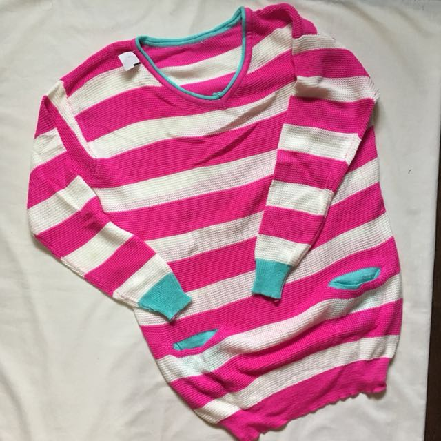 Cute stripes knitted sweater