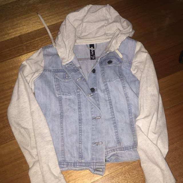Denim n gret jacket