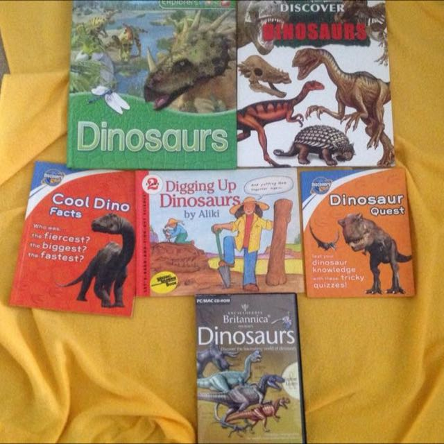Dinosaur books and CD (PC and Mac)