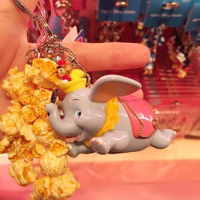 Disney迪士尼爆米花吊飾/小飛象/米奇