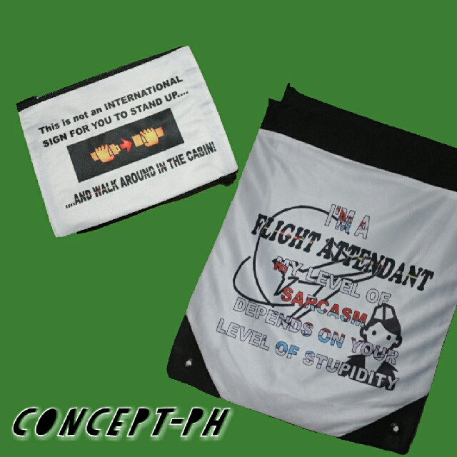 drawstring bag and pouch