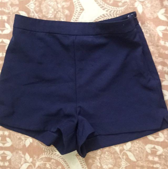 F21 Navy Dolphin Shorts