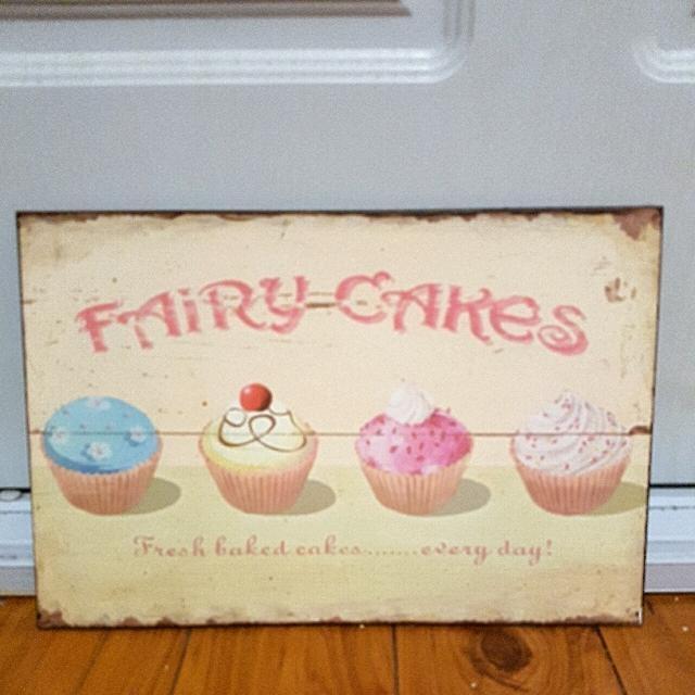 "Fairy Cakes metal sign 11.5"" x 8"""